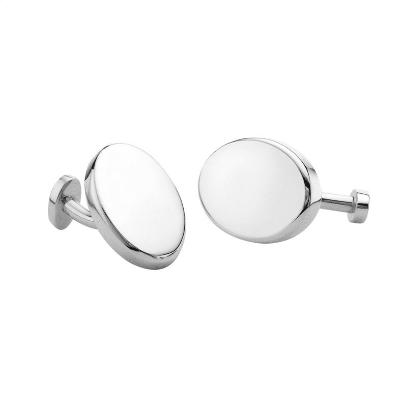 silver handcrafted bespoke cufflinks | David Law Jewellery