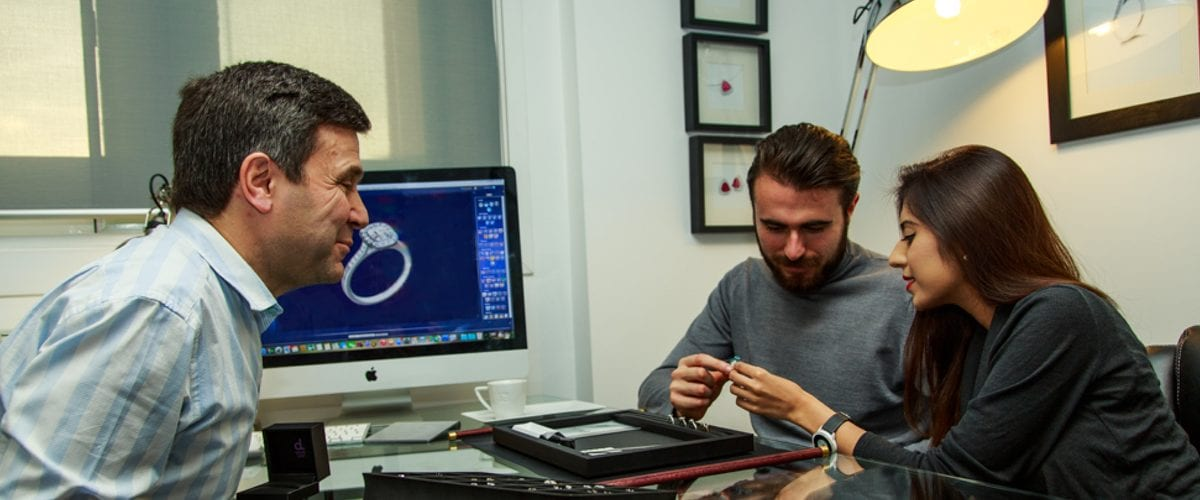 create your own engagement ring with David Law