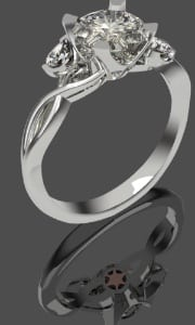 shooting star bespoke enbgagement ring