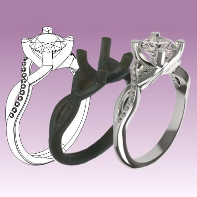 engagement ring settings bespoke engaement ring option