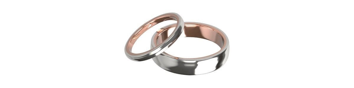 Bespoke Two Toned Wedding Rings | David Law Jewellery