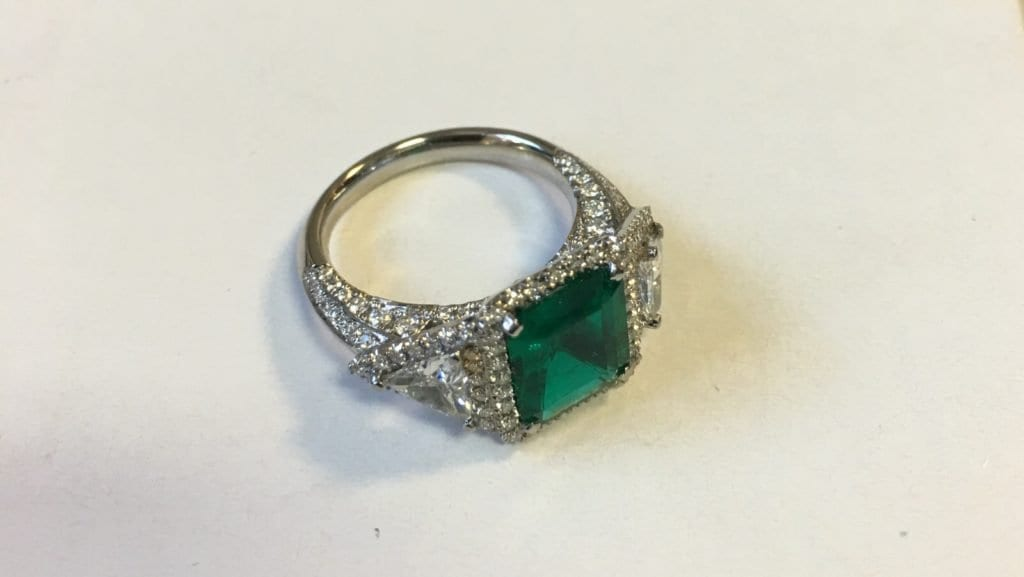 Custom Made Emerald Diamond Ring | David Law Jewellery