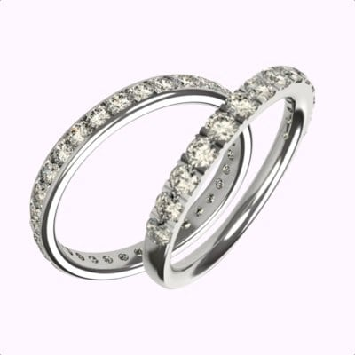 millgrain-and-micro-claw-diamond-wedding-rings