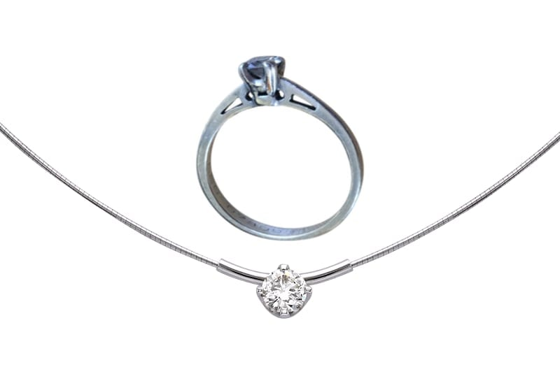 Remodelling a diamond engagement ring into a diamond pendant