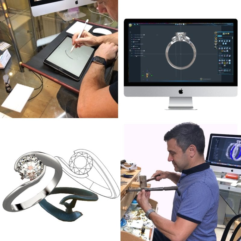 Traditional jewellery manufacturing techniques meet comtemprary design