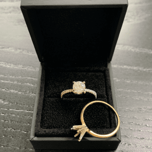 Remodelling a diamond engagement ring. David Law, Jewellery Remodelling London.