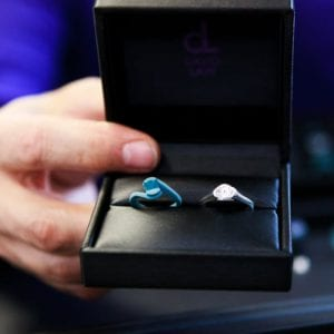 the wax engagement ring proposal