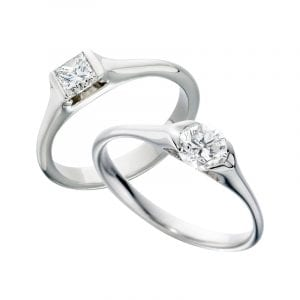 contemporary diamond engagement ring designs