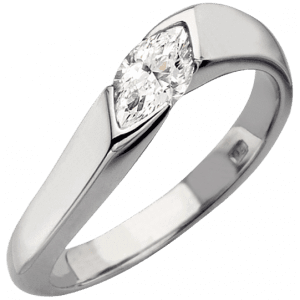 contemporary platinum marquise diamond engagement ring