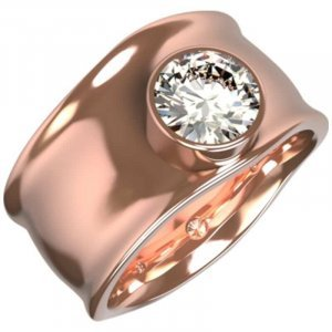bespoke rose gold diamond dress ring