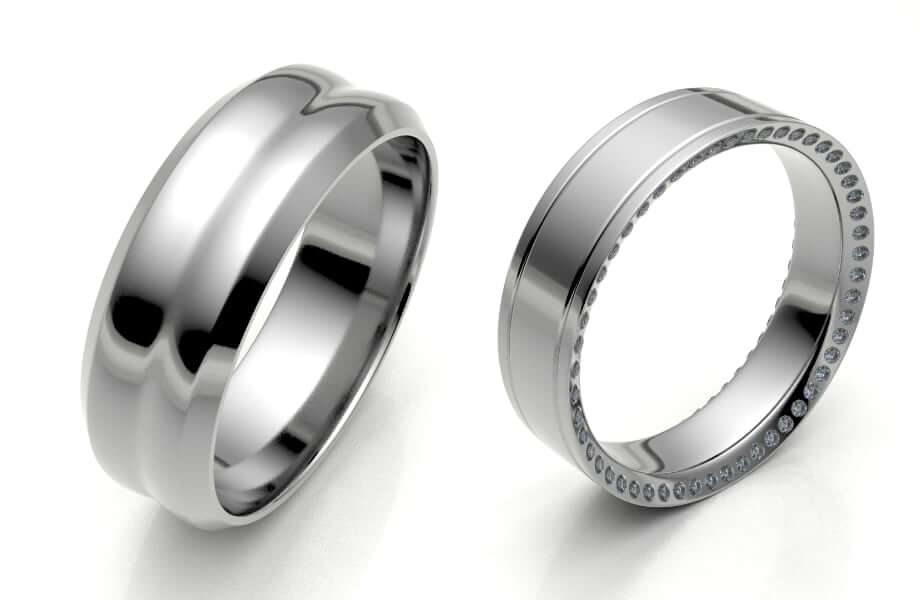 fancy plain men's wedding rings and men's diamond wedding ring
