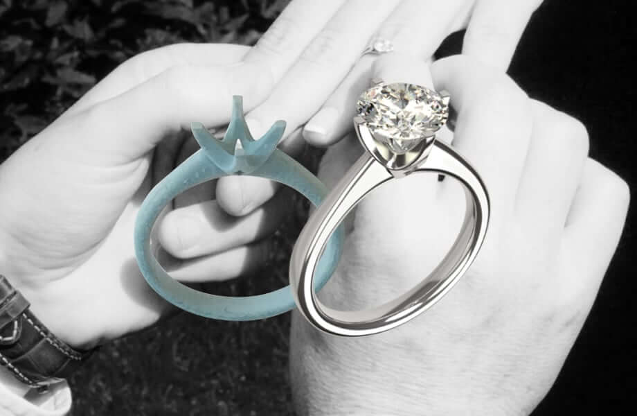 propose with a temorary engagement ring
