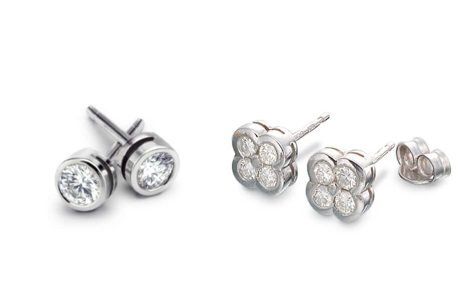 bespoke diamond stud earrings