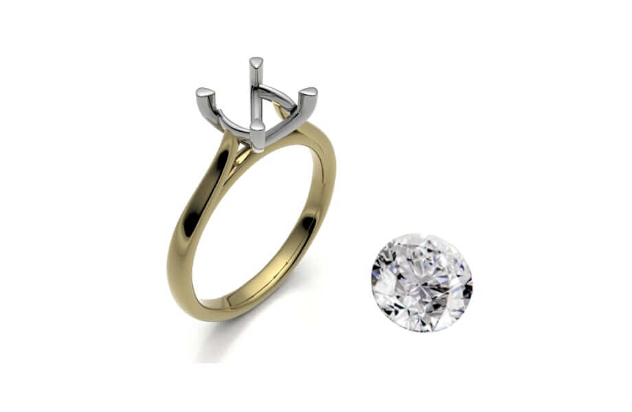 fair-trade gold engagement ring and loose diamond
