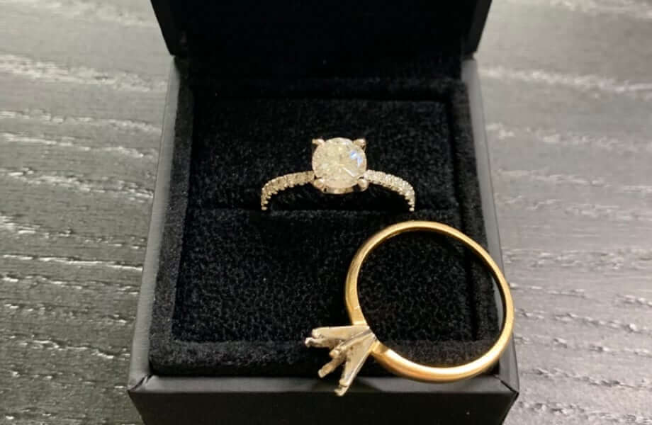 incorporating a falily heirloom into your engagement ring