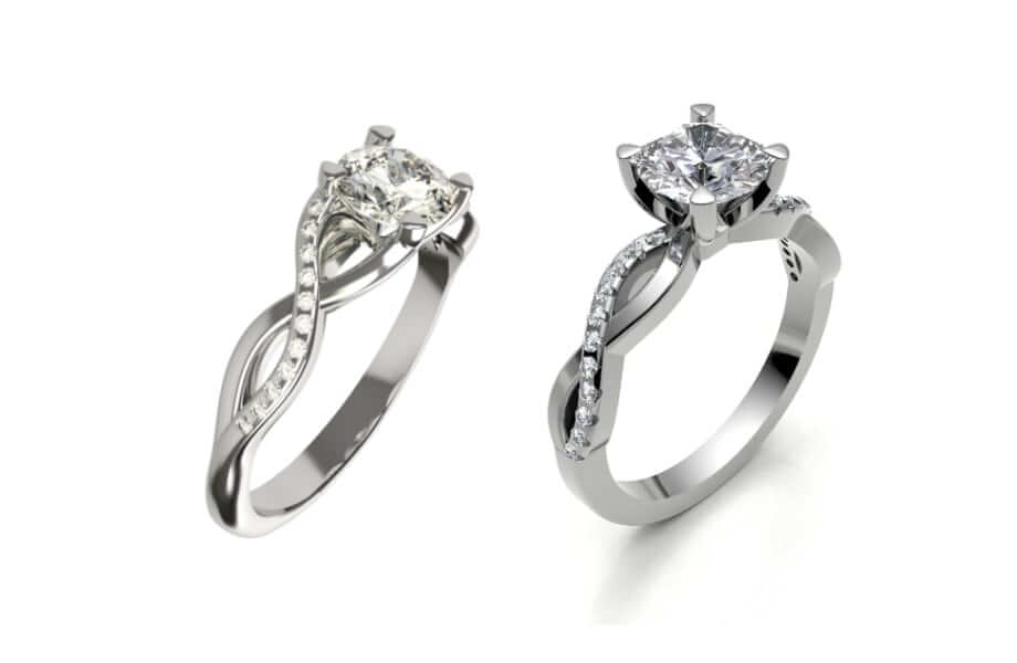 infinity engagement ring styles