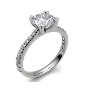 made for you diamond platinum bespoke engagement ring