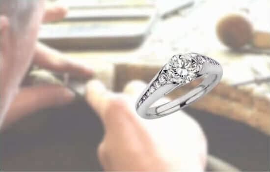 platinum diamond ring handcrafted in hatton Garden