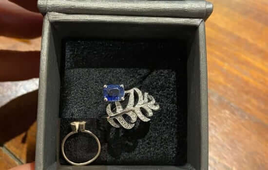 remodel an old sapphire ring into a new dress ring
